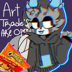 art trades are open!! by Nightdreamwolf12