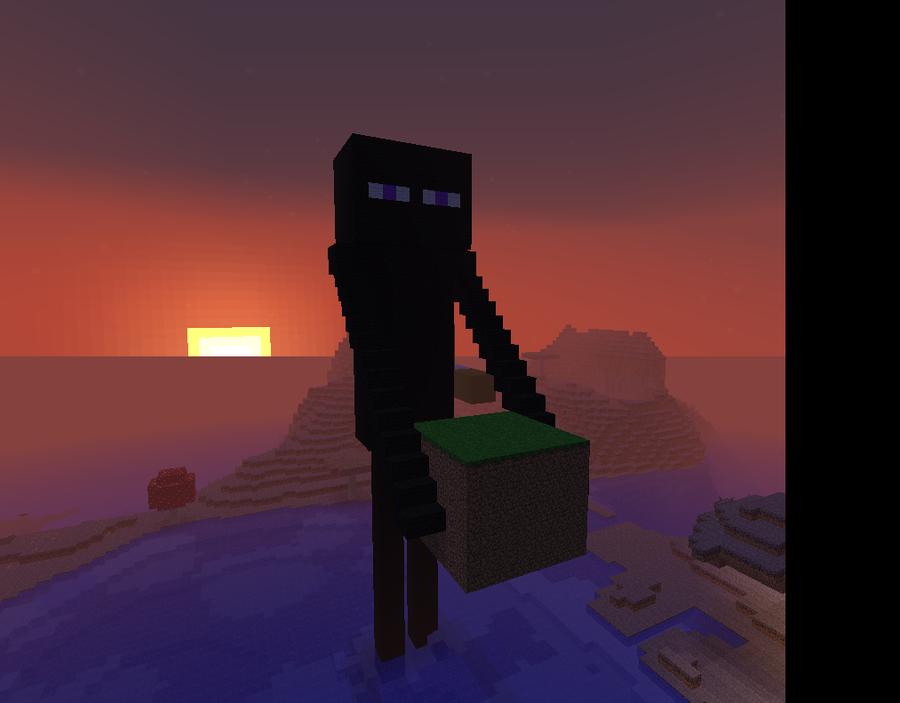 Ender Man MineCraft by BrunWalker