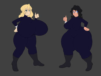 Acacia and Donna - Spy Suits by MinosReturned