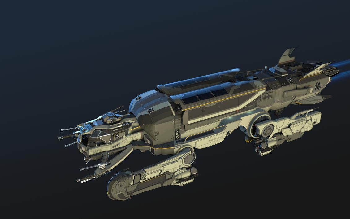 Hopper Spaceship Concept by Markoze