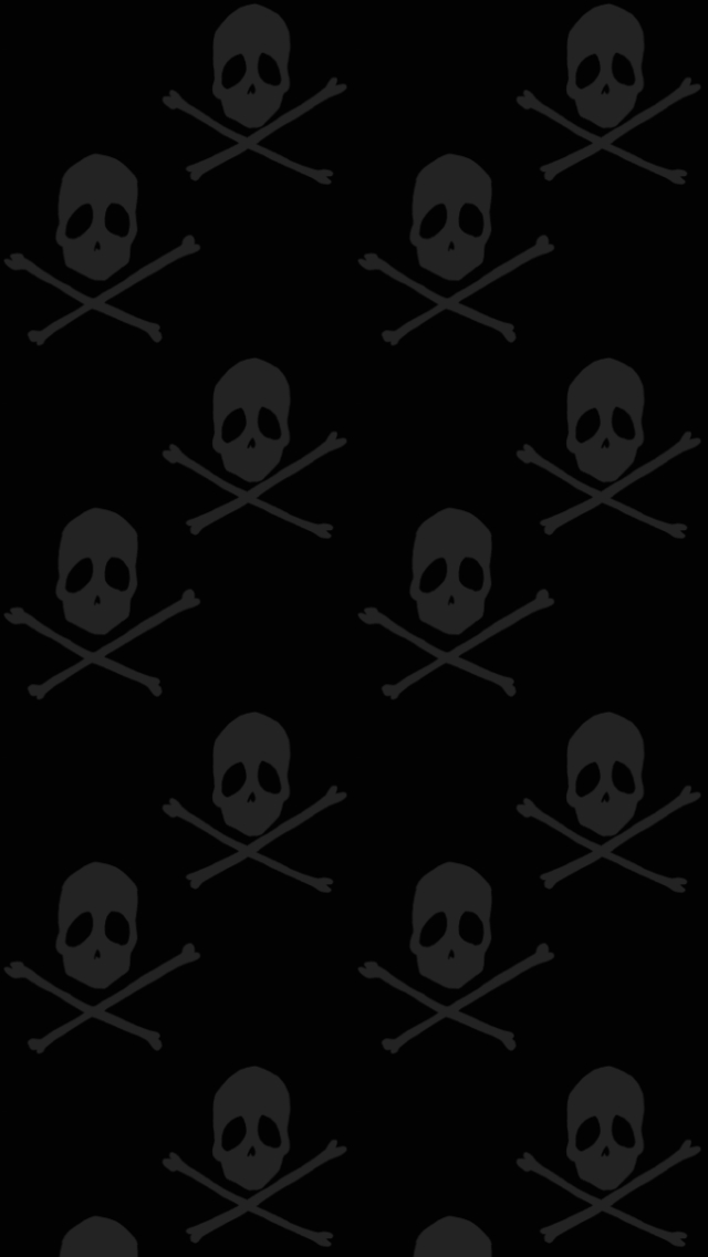 Skull Pattern Dark Wallpaper For Iphone 5 By Gregmroe