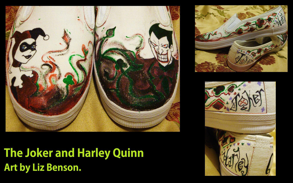 Joker and Harley Quinn Shoes by soccercat4685