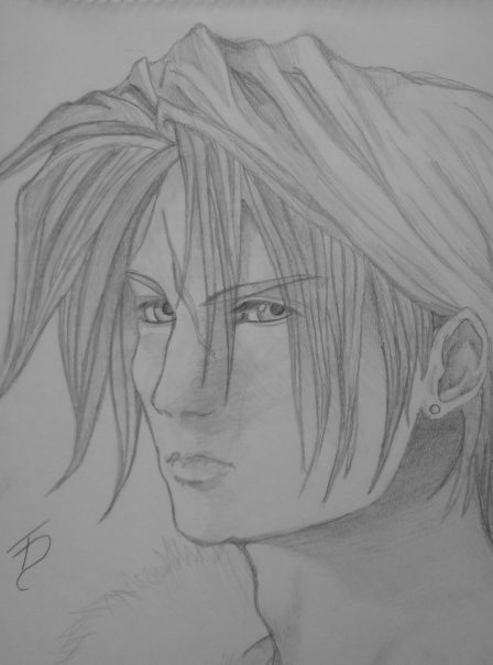 Squall from FFVIII by Trance-Sephigoth