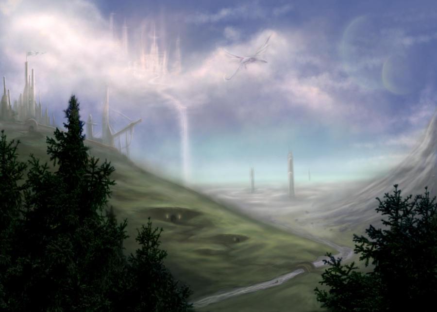 Fantasy Landscape by Trance-Sephigoth