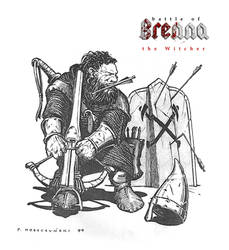 dwarf with crossbow by 2blind2draw
