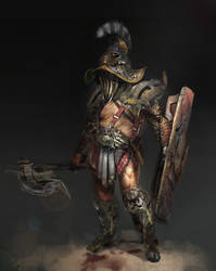 gladiator speedpainting by 2blind2draw