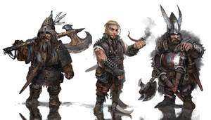 dwarves - lineup by 2blind2draw