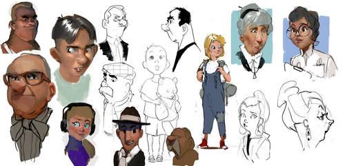 cartoony doodles