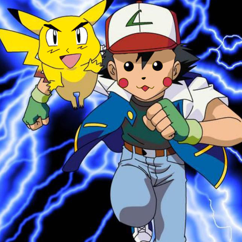 Pikachu and ash face switch by brycelps on deviantart
