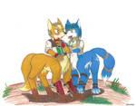 Fox and Krystal as Taurs
