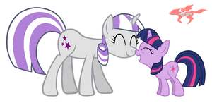 Twilight and her Mother by StarFox-Saiyan