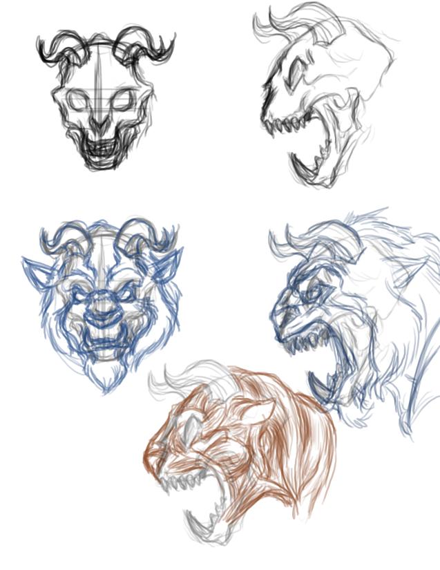 Beast- Skull Study