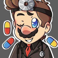 Dr. Mario (Dark ver.) by Bkuey24