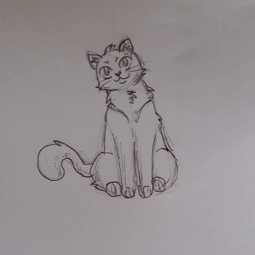 A little sketch for DA cat tutorial