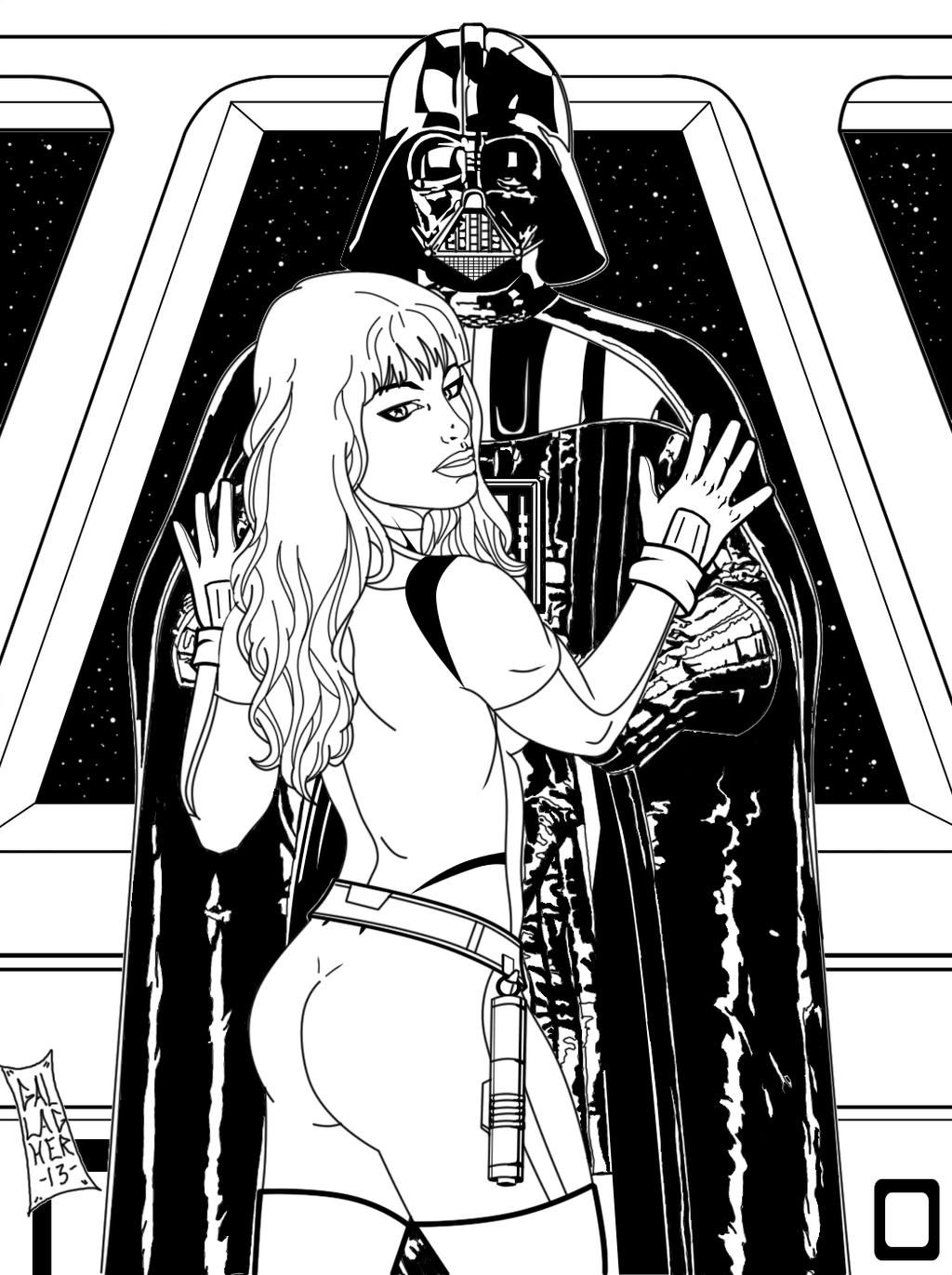Darth vader 39 s new apprentice black and white by soulgem01 for Darth vader black and white