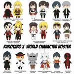 Rukotaro X World Character Roster