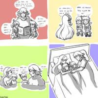[FE Fates] Corrin Kana Family Sketches by Rukotaro