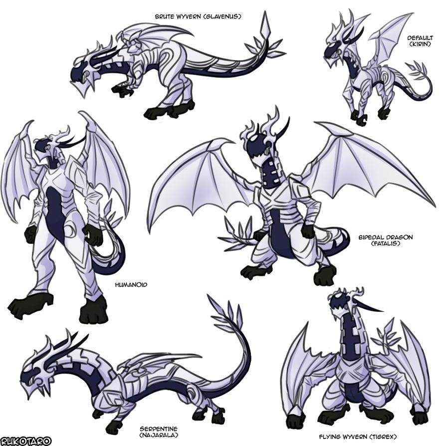 fe fates x monhun dragon corrin alternate forms by rukotaro on