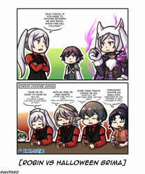 Robin vs Halloween Grima