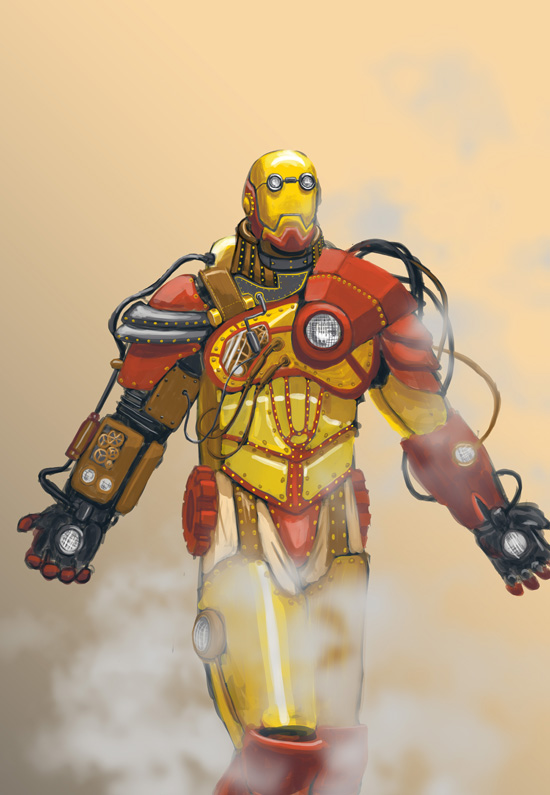 Steampunk Iron Man by ecelsiore