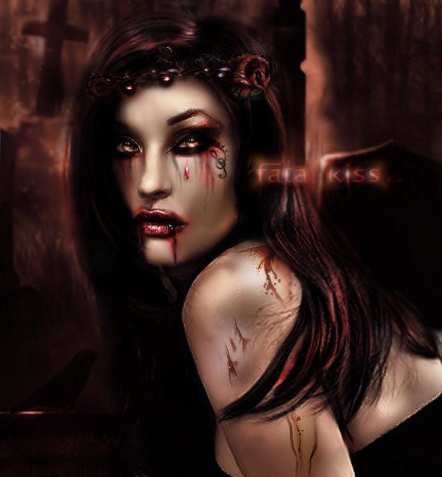 fatal kiss by L-A-Addams-Art