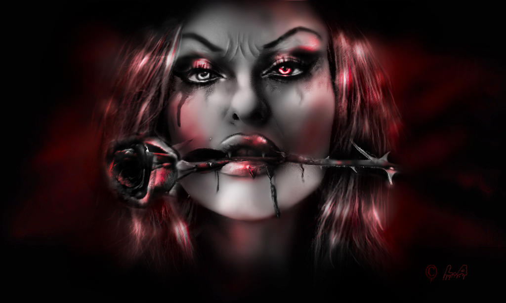 THE LOST GIRL(VAMPIRE) by L-A-Addams-Art