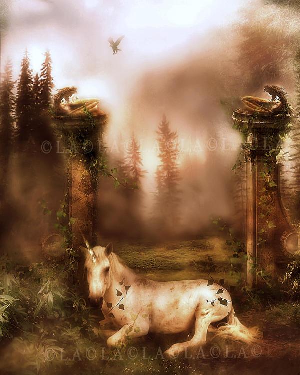breaking dawn..the last unicorn by L-A-Addams-Art