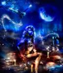 blue moon spell by L-A-Addams-Art