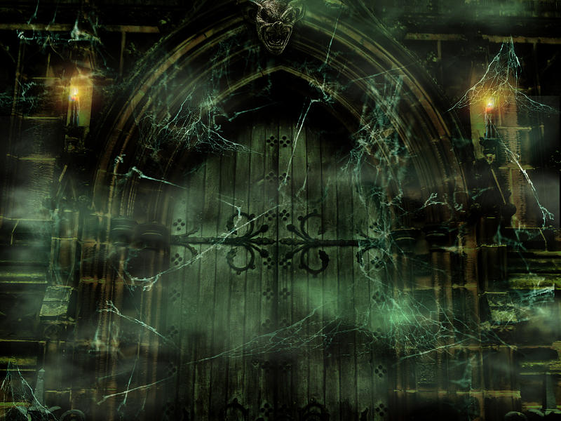 premade gothic background the door1 by l