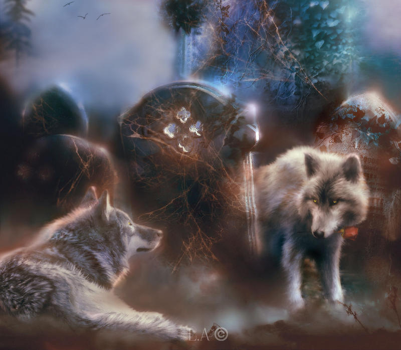 wolf mist by L-A-Addams-Art