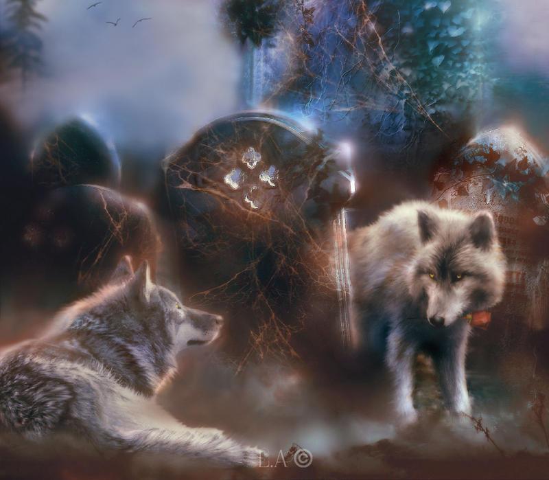 wolf mist by L-A-Addams-Art
