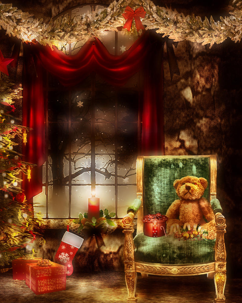 a warm welcome this christmas by L-A-Addams-Art