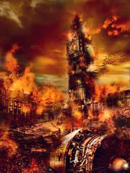 APOCALYPSE LONDON-BLAZE CITY by L-A-Addams-Art