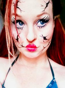 easy broken doll makeup look by L-A-Addams-Art ...