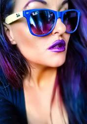 purple hair by L-A-Addams-Art
