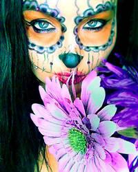 sugar skull make up by L-A-Addams-Art