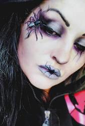 halloween makeup idea spider by L-A-Addams-Art