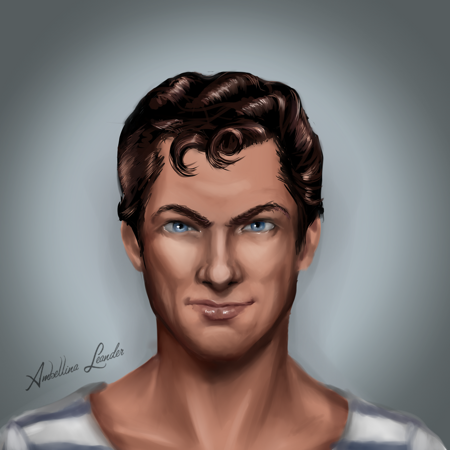 Tony Curtis by AmbellinaLeander