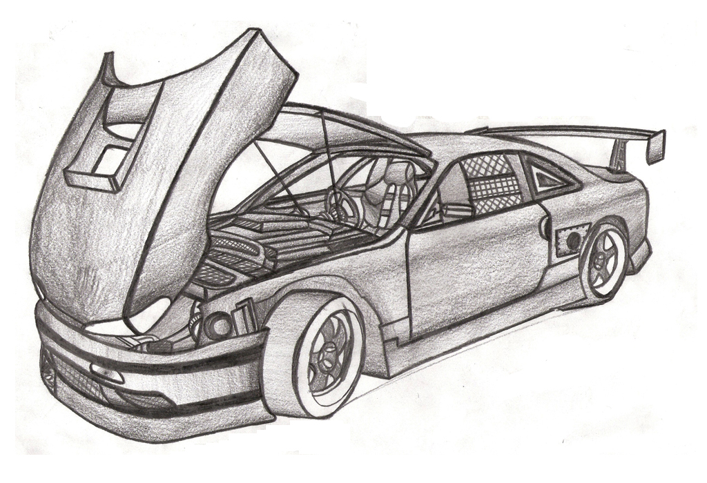 Drawing Lines In D : Drawing cars and colored pencil skect vol by faik