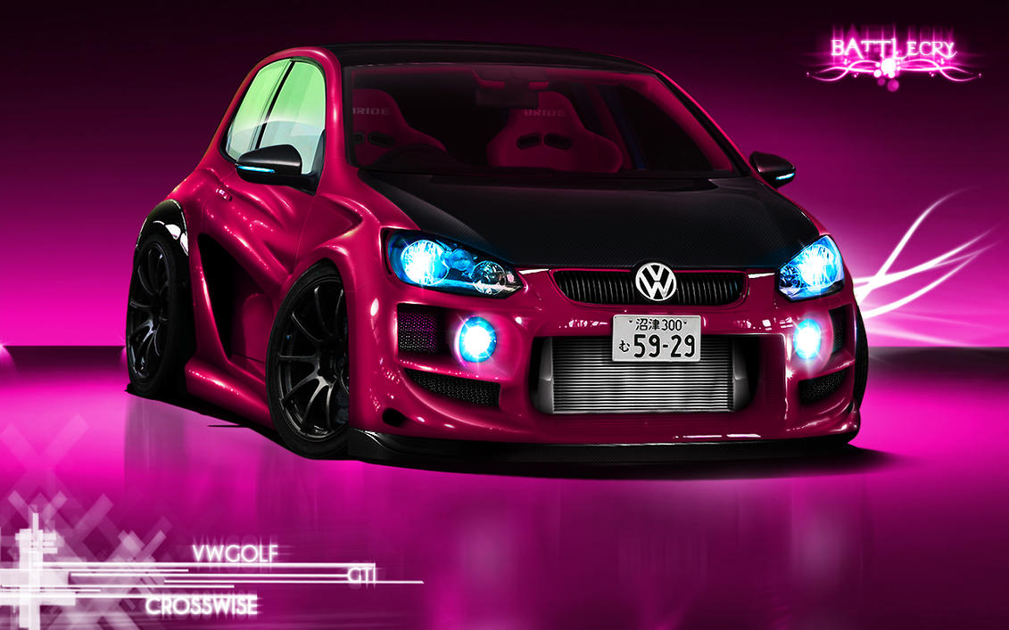 VW Golf Gti Studio Wallpaper By Battle Cry TR