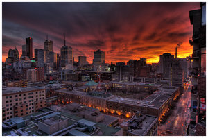 Winter Sunset in Toronto - HDR by HDR-Club