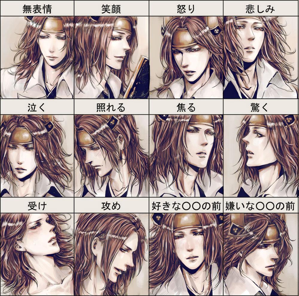 mitsunari's face by shibakaien