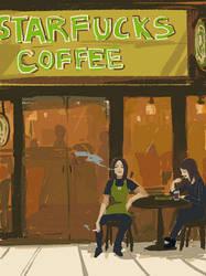 starfucks coffee by shibakaien