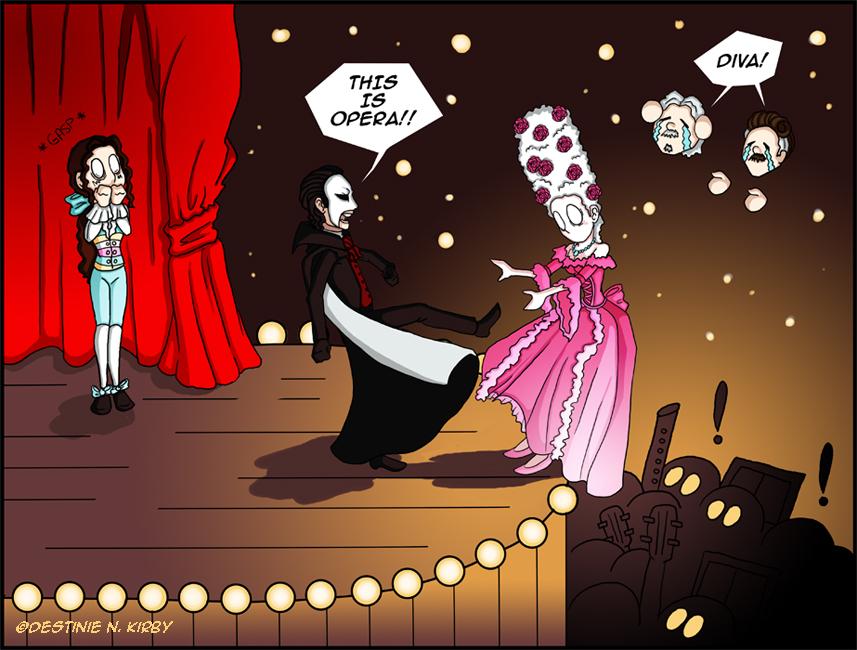 Рисунки по призраку оперы