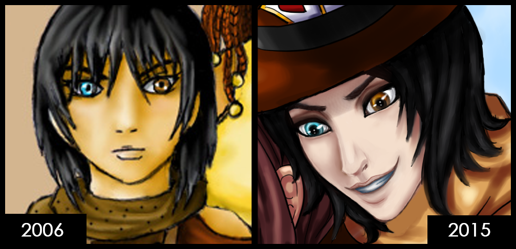 Cassidy: 2006 vs 2015 by TouchedVenus