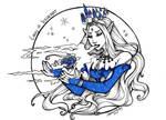 Inktober 2019 - Day 04 - Lady Iceheart by DestinieKirby