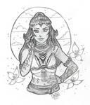 Blaze Sketch for Lilluanu by DestinieKirby