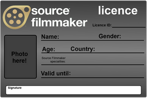 Source Filmmaker Licence - Blank