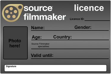 Source Filmmaker Licence - Blank by Nikolad92