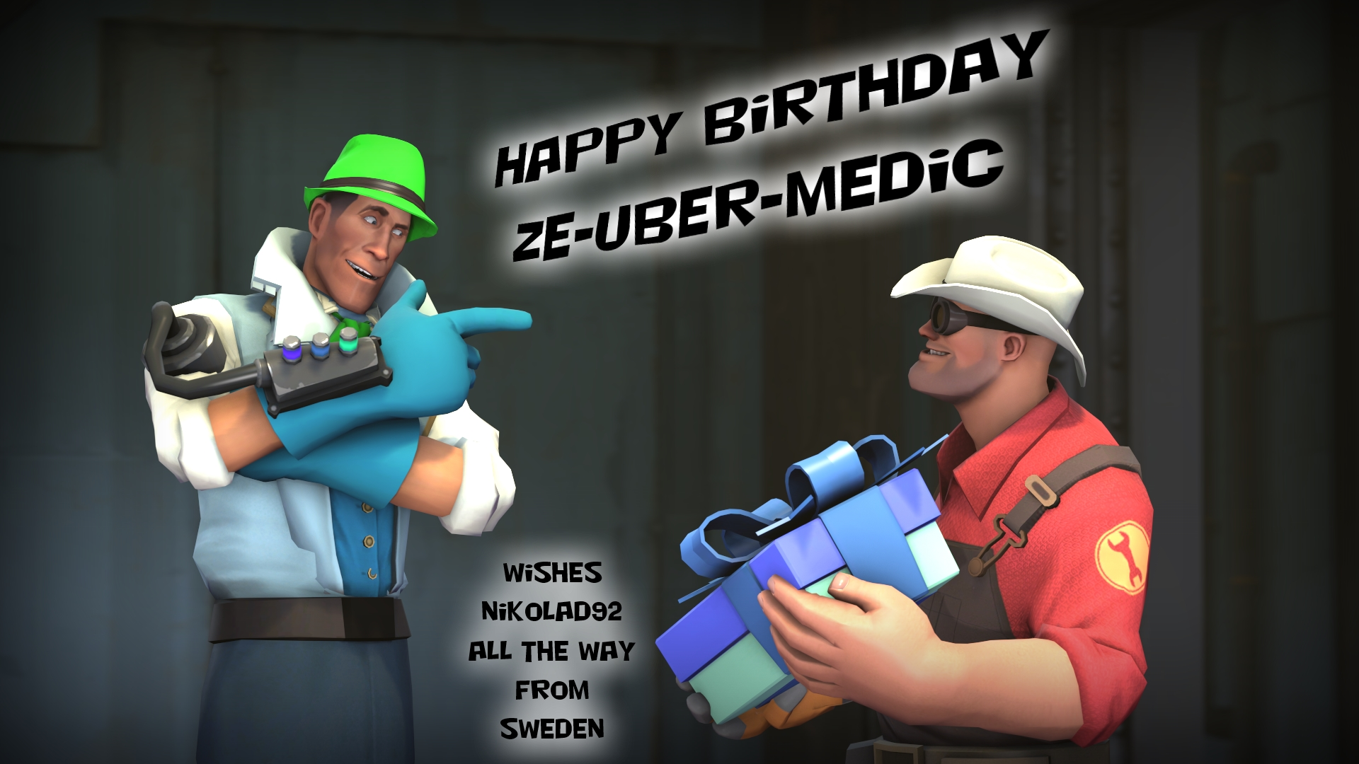 Happy BirthDay Ze Uber Medic by Nikolad92
